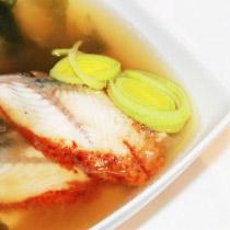 Мисо суп с угрём и рисом